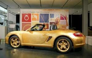 Golden-Porsche-Car-2